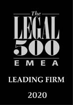 Wyróżnienie The Legal 500 EMEA Leading Firm 2020
